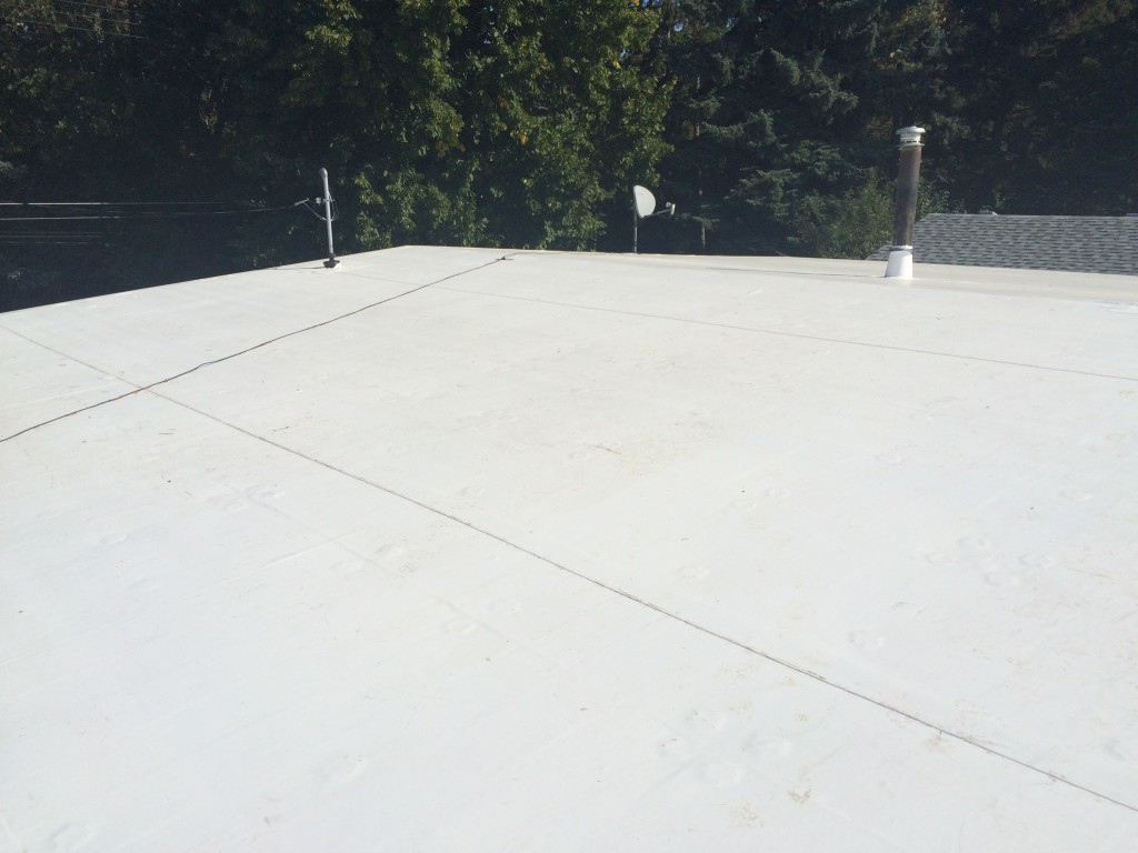 residential TPO roof system in Edmonton
