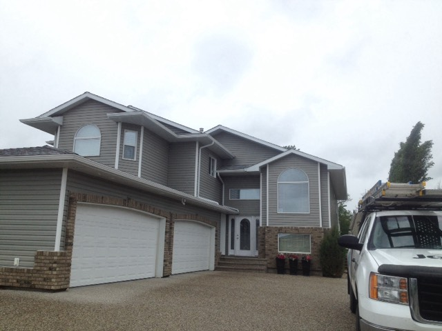 new siding on a residential home in Edmonton