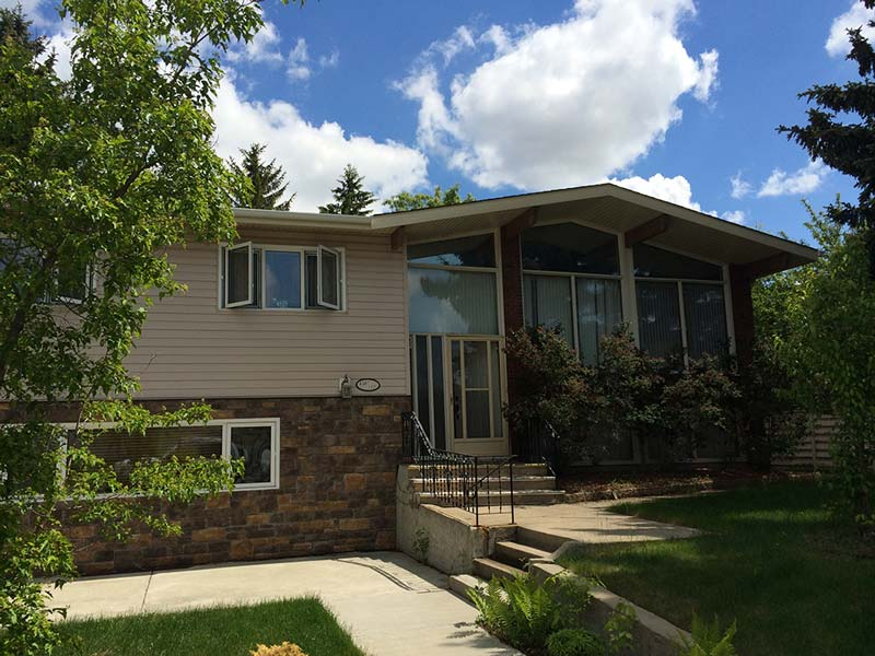 low slope roofing project on an Edmonton home