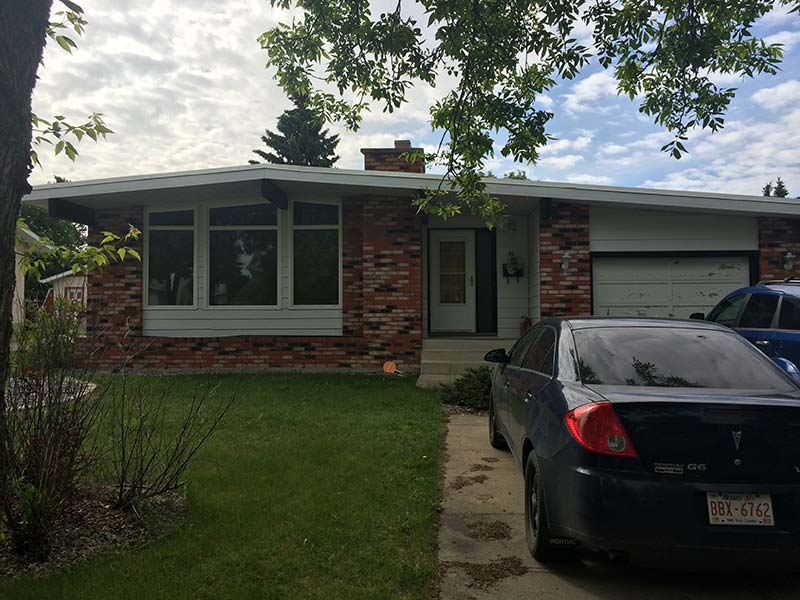 residential low slope roofing project in Edmonton