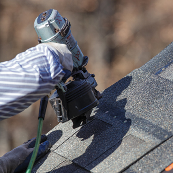 Roofer Installing Roof