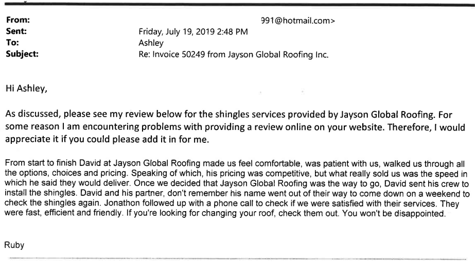 Ruby Review Jayson Global Edmonton Ab